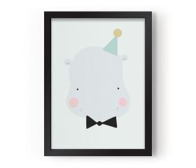 Happy Hippo Poster